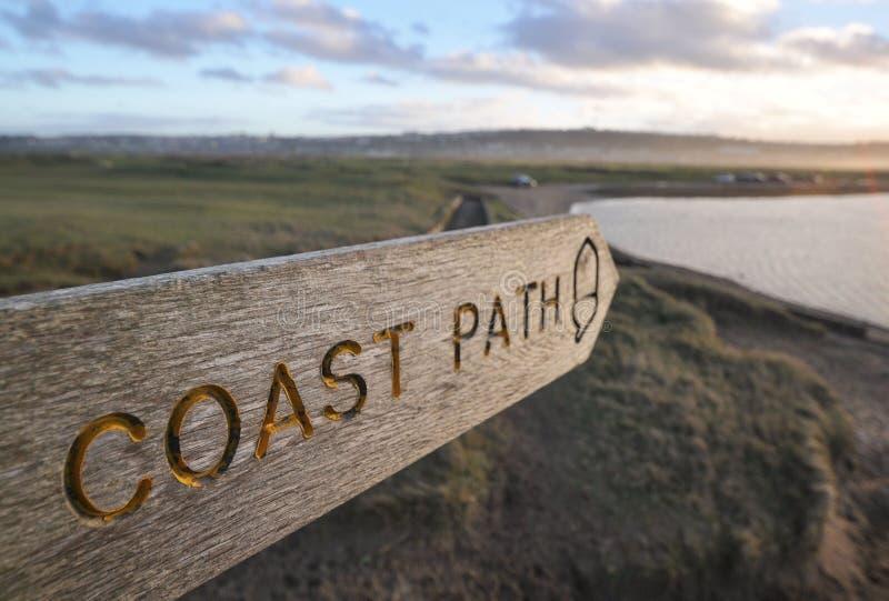 Küsten-Wegzeichen stockbild