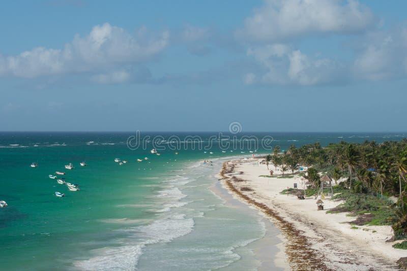 Küstenansicht Tulum stockbild