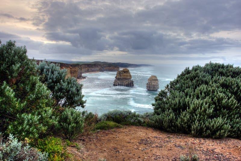 Küstenklippenlandschaft lizenzfreie stockfotografie