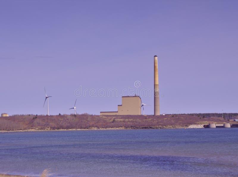 Küstenkohle feuerte Kraftwerk ab lizenzfreies stockfoto