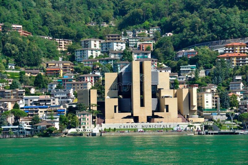 Küstenlandschaft, die Schweiz, Lugano lizenzfreie stockfotos