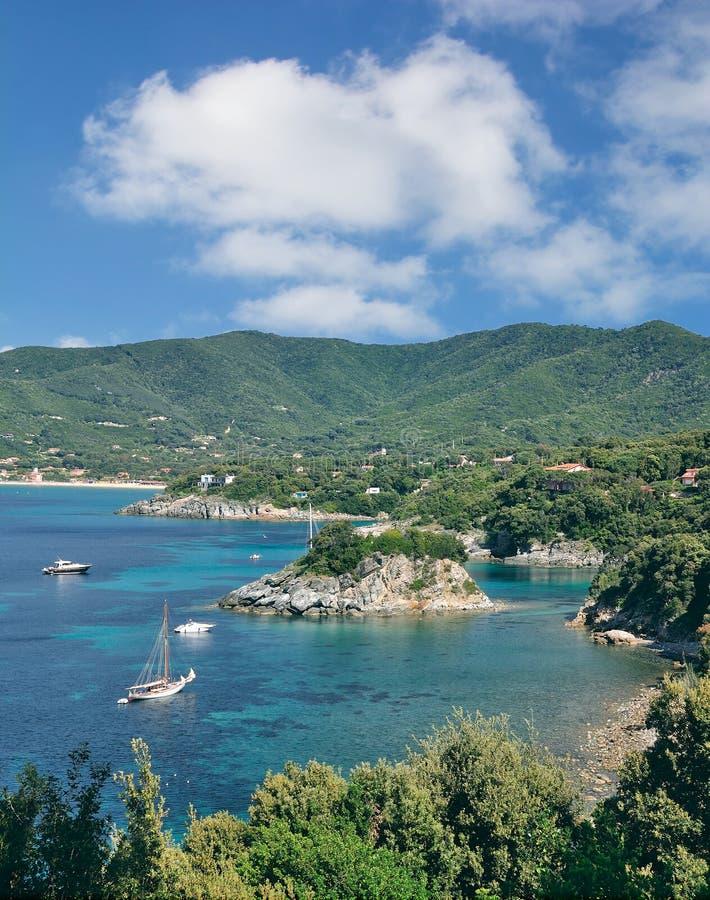 Küstenlandschaft, Insel Elba, Italien lizenzfreies stockfoto