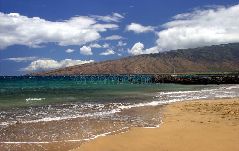 Küstenlinie der Maui-Insel in Kihei, Hawaii lizenzfreie stockbilder