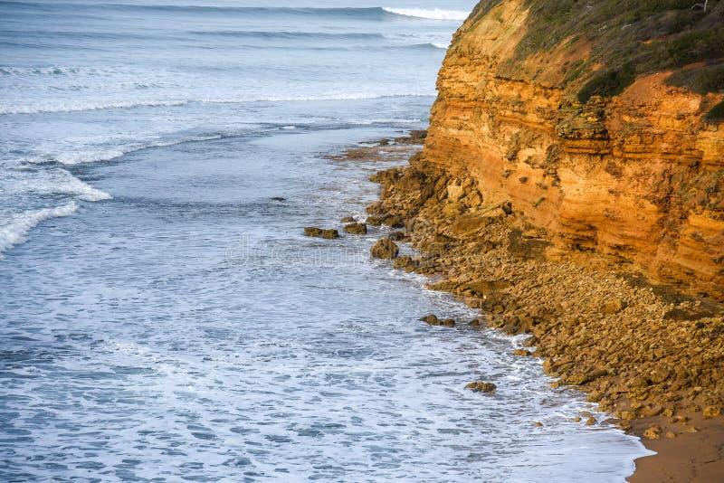 Küstenlinie nahe der großen Ozean-Straße, Australien lizenzfreies stockfoto
