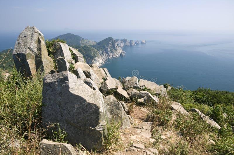 Küstenlinie, Südkorea lizenzfreies stockbild