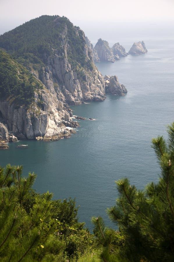 Küstenlinie, Südkorea stockfotografie