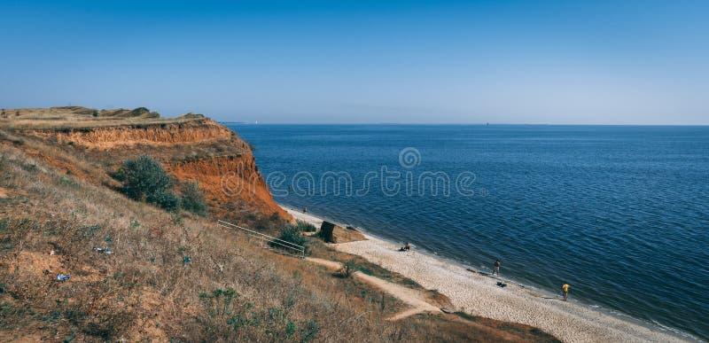Küstenlinie und Strände in Ochakov, Ukraine stockbilder