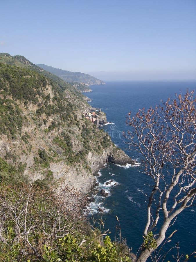 Küstenlinie von Cinque Terre stockfotografie