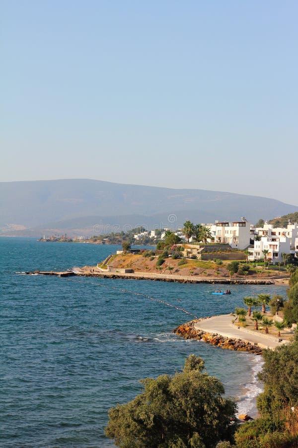 Küstenlinie von Gulluk in Bodrum, die Türkei lizenzfreies stockfoto