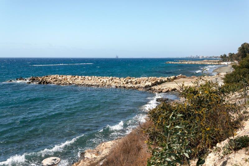 Küstenlinie von Limassol, Zypern lizenzfreies stockfoto