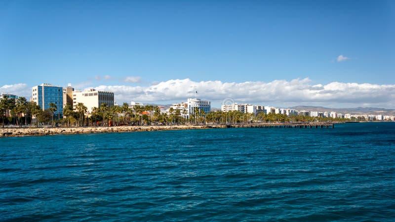 Küstenlinie von Limassol, Zypern stockbilder
