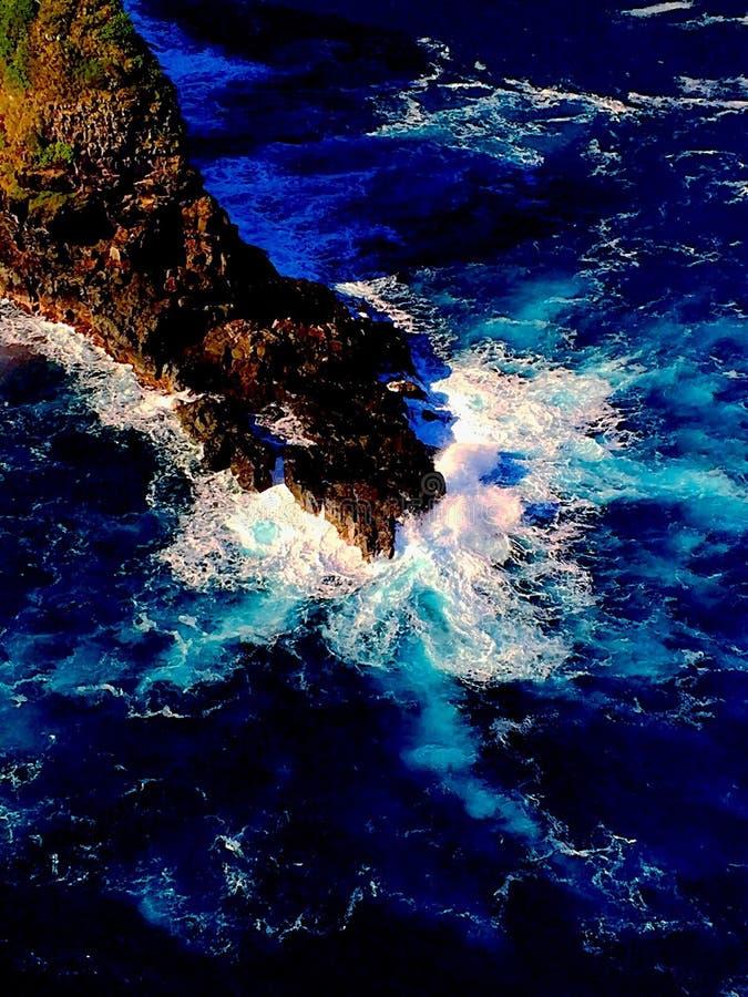 Küstenlinie von Maui lizenzfreie stockfotos
