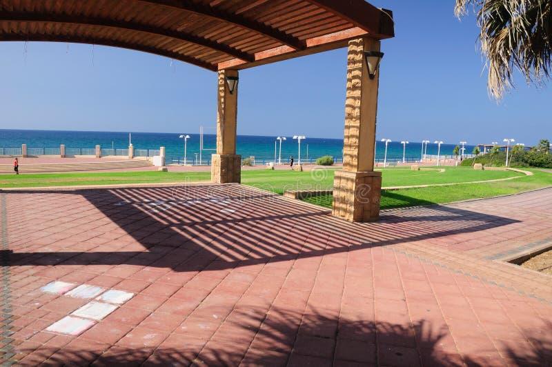 Küstenlinie von Naharija lizenzfreies stockfoto
