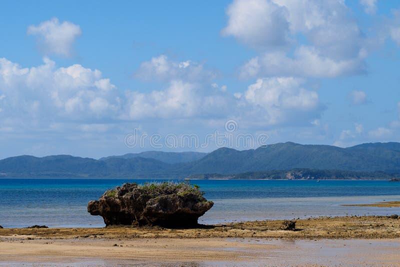 Küstenlinie von Taketomi-Insel lizenzfreies stockfoto