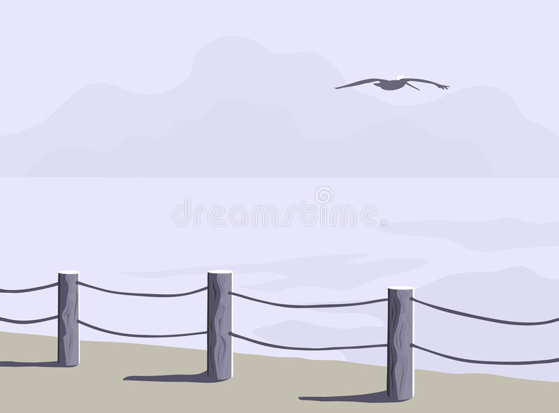 Küstenlinie-Zaun stock abbildung