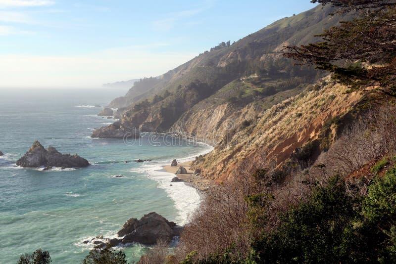 Küstenlinie in zentralem Kalifornien Big Sur lizenzfreie stockfotografie