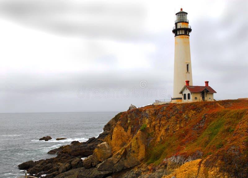 Küstenlinieleuchtturm lizenzfreie stockfotografie
