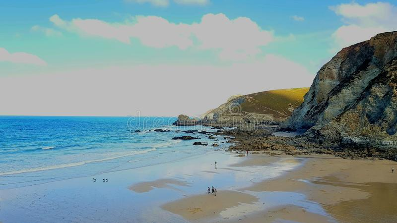 Küstenstadt St. Agnes Cornwall Großbritannien stockbild
