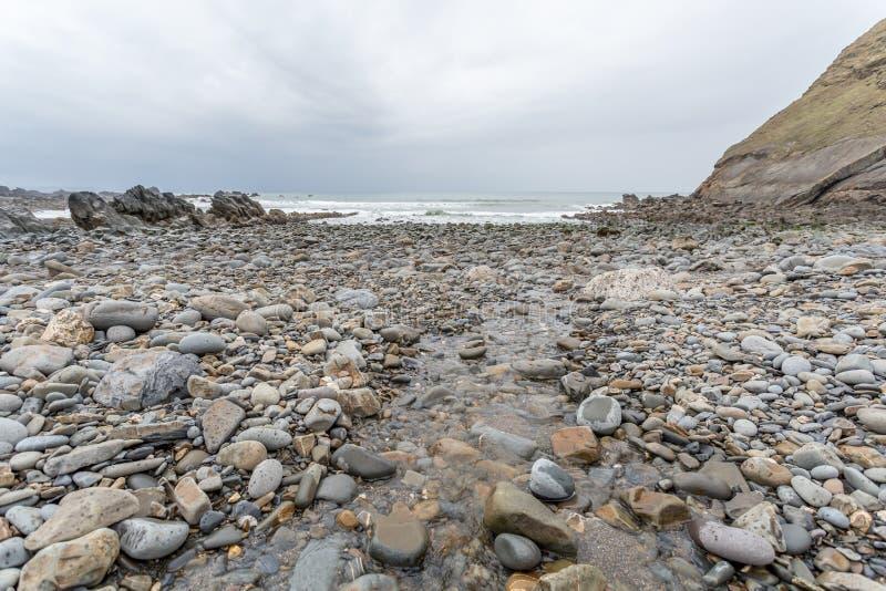 Küstenstandort um duckpool in Cornwall England Großbritannien stockfoto