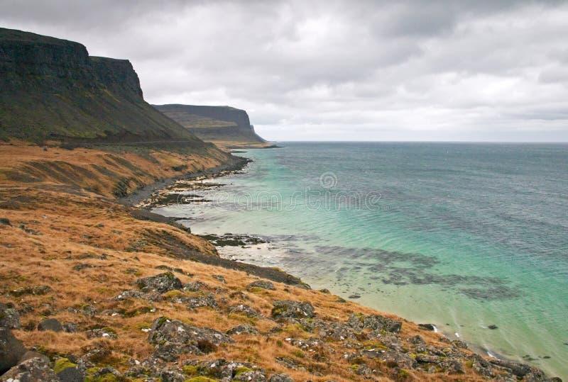 Küstenszene in Island lizenzfreie stockbilder
