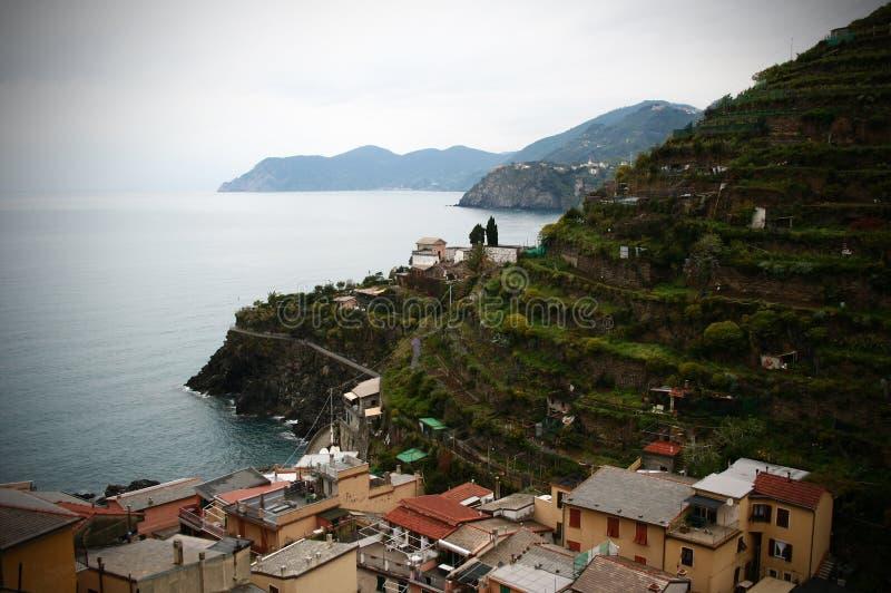 Küstezeile, panoramische Ansicht stockfotos