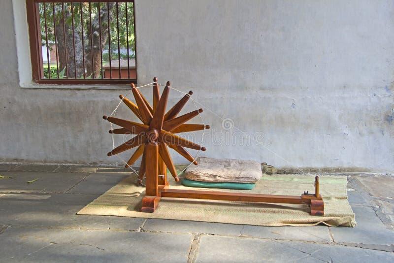 Kądziel w Sabarmati ashram zdjęcia stock