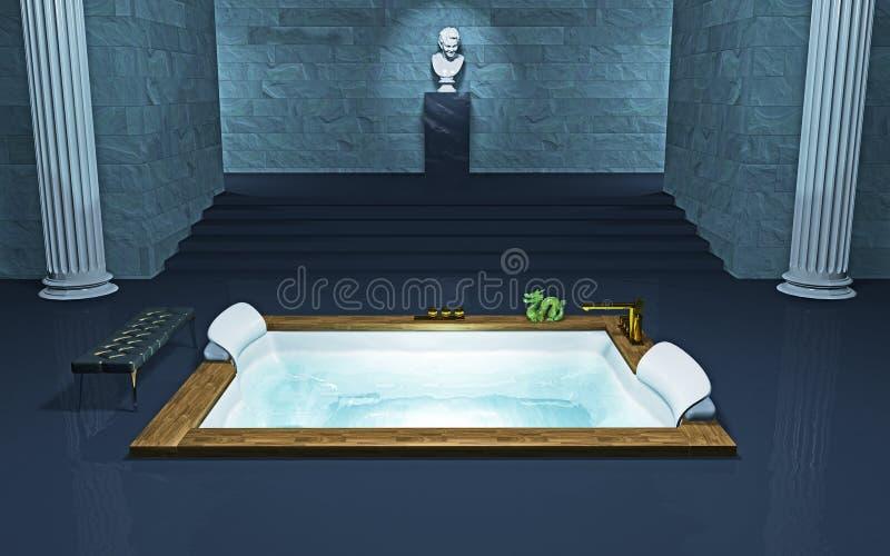 kąpielowa balia ilustracja wektor