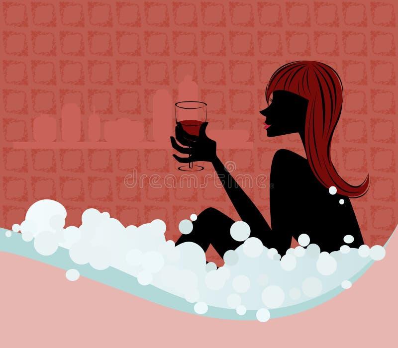 kąpielowa bierze kobieta royalty ilustracja