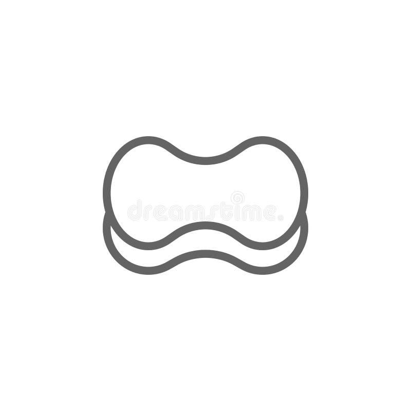 Kąpielowa gąbka konturu ikona Elementy pi?kna i kosmetyk?w ilustracja ikona Znaki i symbole mog? u?ywa? dla sieci, logo, wisz?ca  ilustracji