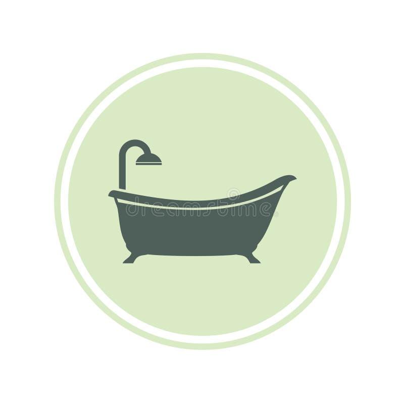 Kąpielowa ikona royalty ilustracja