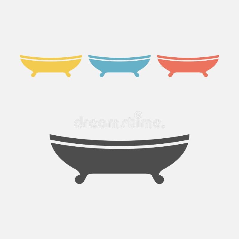 Kąpielowa ikona ilustracja wektor