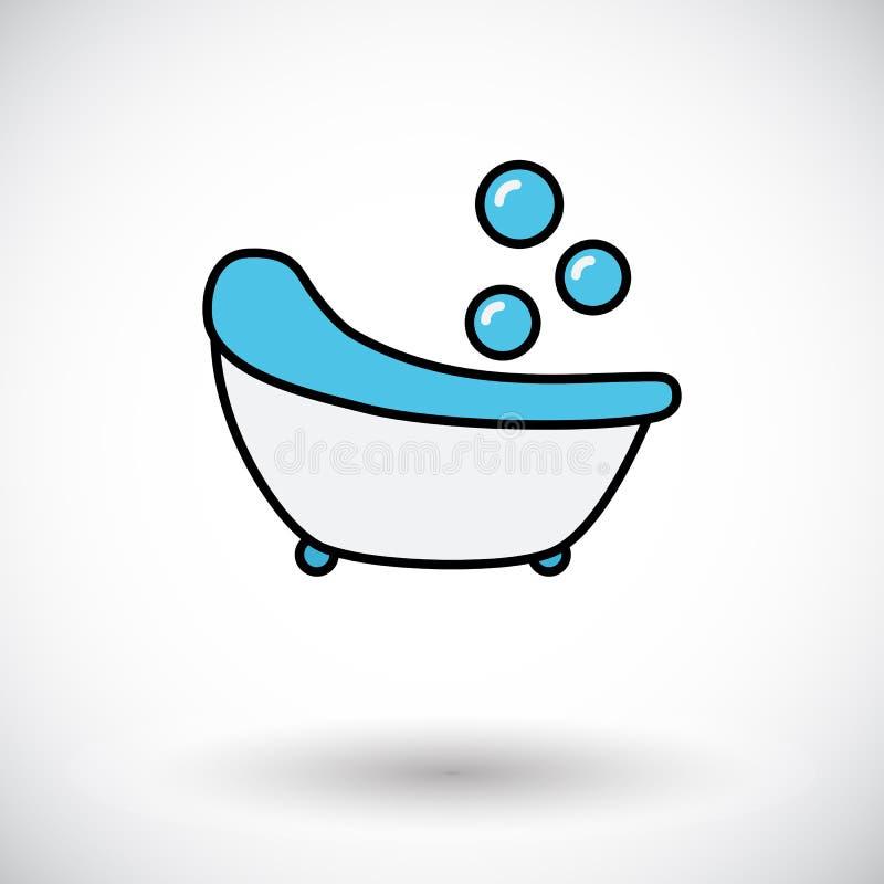 Kąpielowa ikona ilustracji
