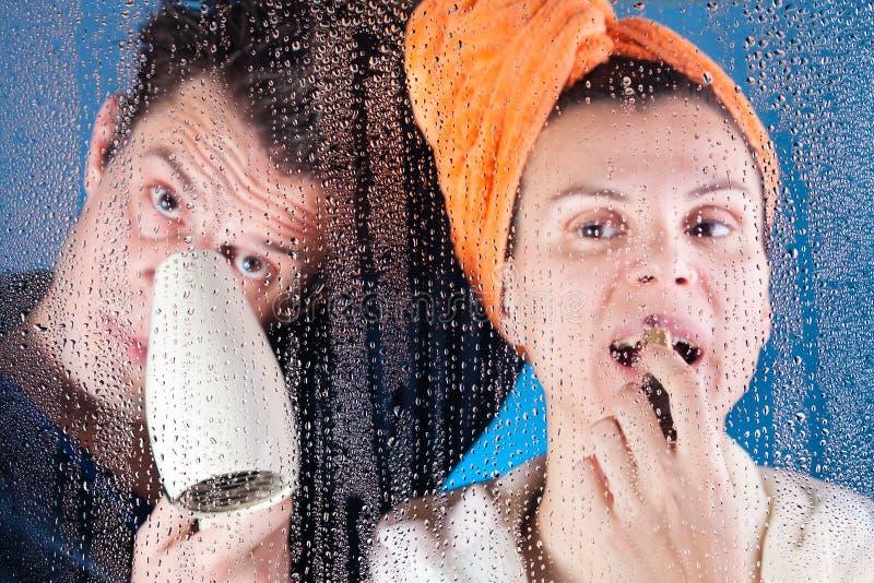 kąpielowa para obraz stock