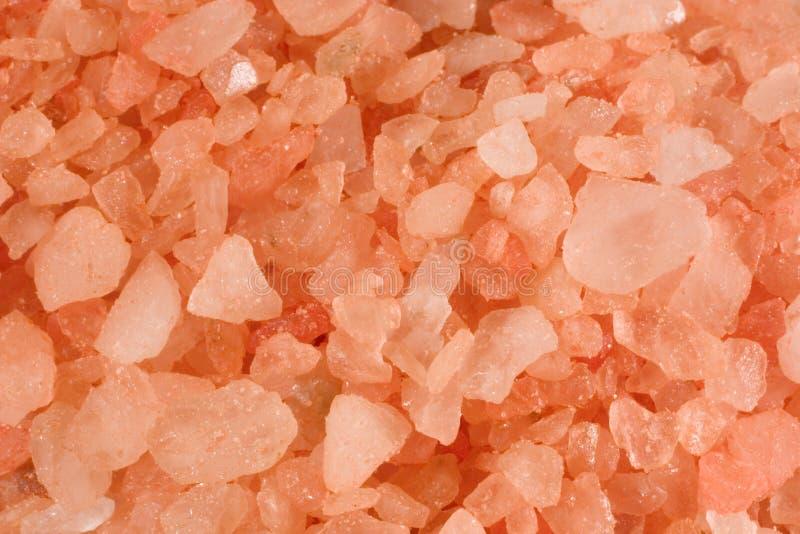 kąpielowa zbliżenia menchii sól zdjęcie stock