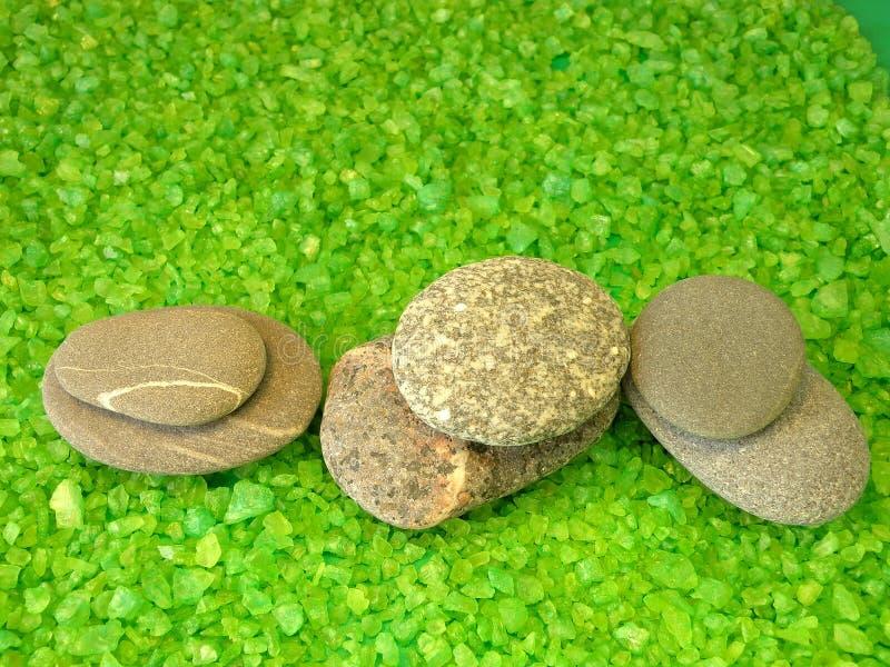 kąpielowej soli kamienie fotografia stock