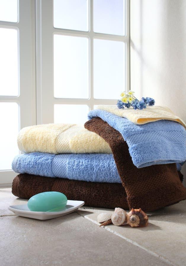 kąpielowi ręczniki zdjęcia royalty free