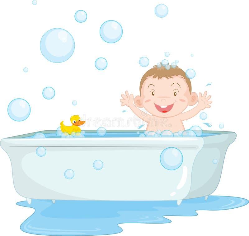 kąpielowy czas royalty ilustracja