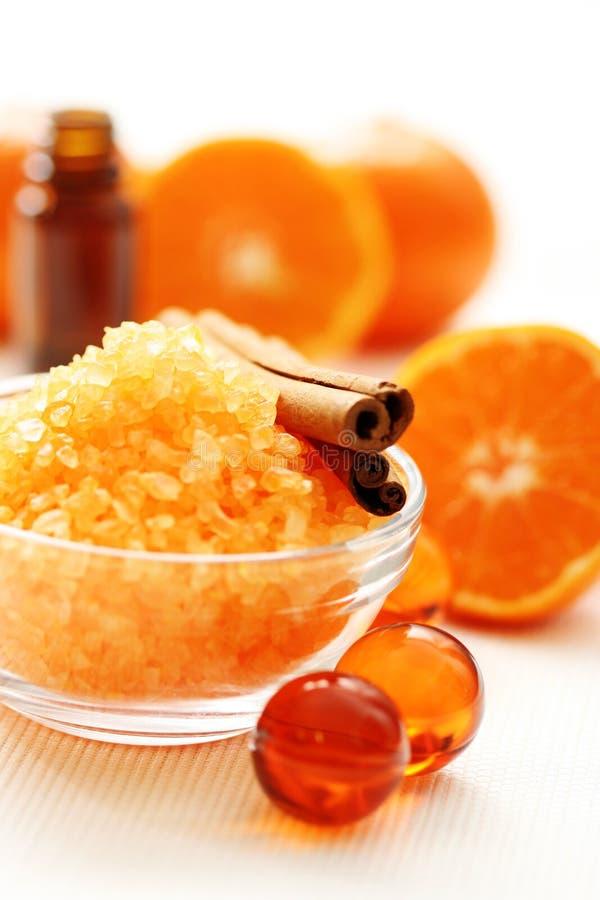 kąpielowy tangerine fotografia royalty free