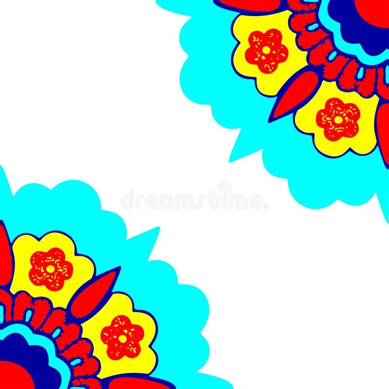 5 kątów kwiatów sylwetki Ornamentacyjny wzór ilustracji