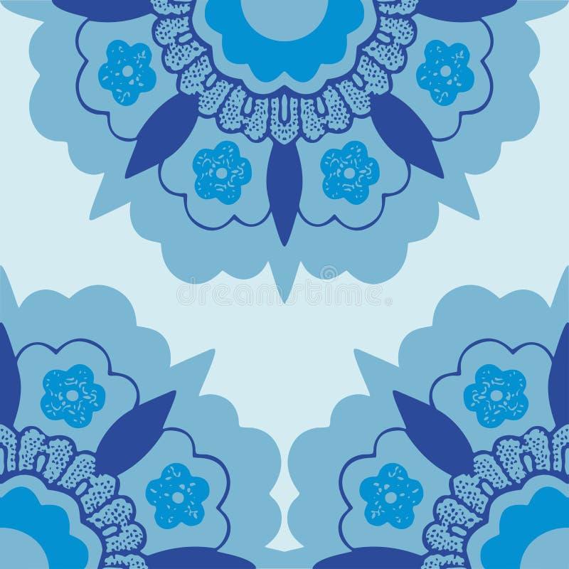 7 kątów kwiatów sylwetki Ornamentacyjny wzór ilustracji