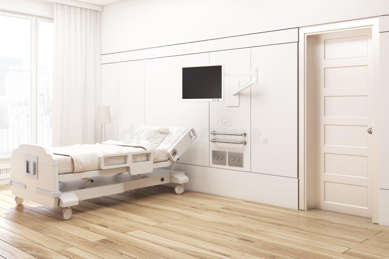 Kąt beżowy szpitalny oddział ilustracja wektor