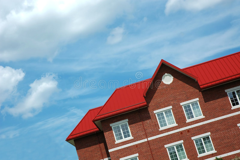 kąt czerwony dach obrazy royalty free