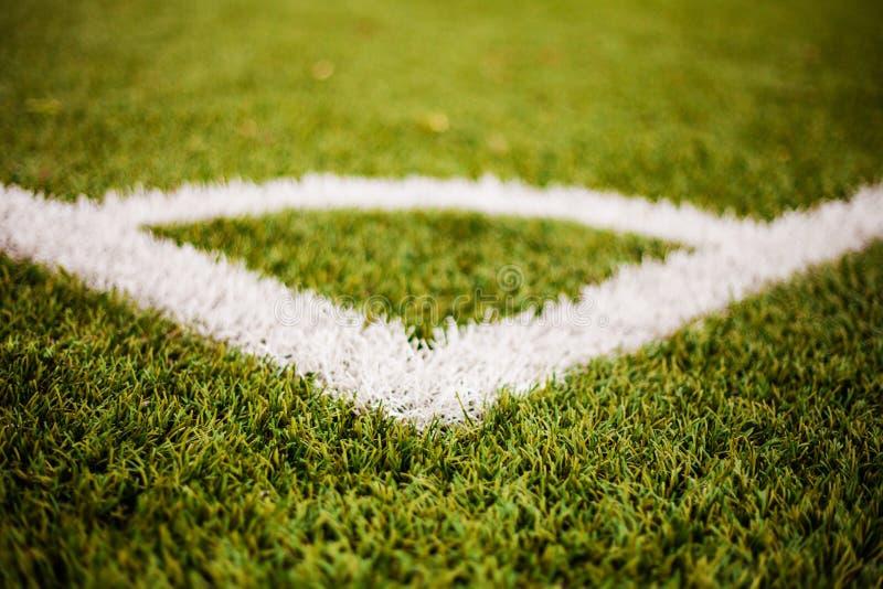 Kąt linii szczegół na boisko do piłki nożnej obraz royalty free