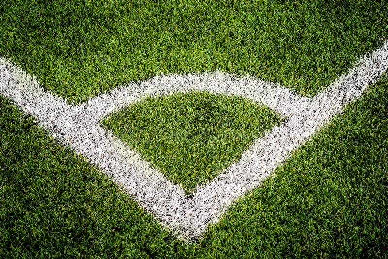 Kąt linii szczegół na boisko do piłki nożnej obrazy royalty free