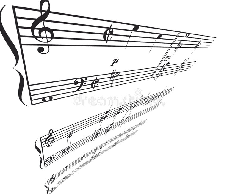 kąt muzyki perspektywy royalty ilustracja