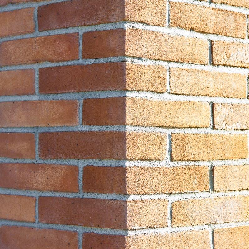Kąt nowy ściana z cegieł fotografia royalty free
