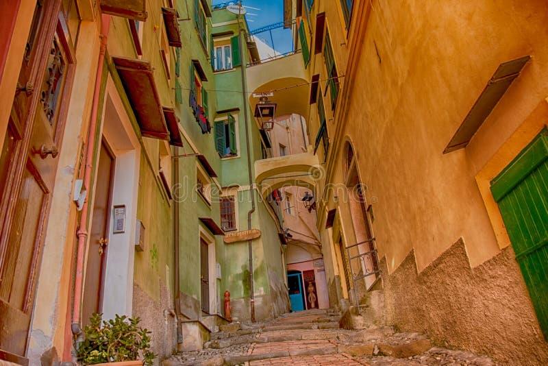 Kąt Stary miasto Sanremo obraz stock