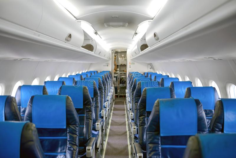 Kąt strzelający samolotowy korytarz zdjęcie royalty free