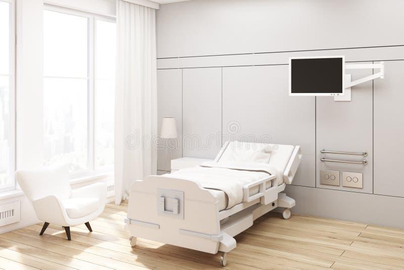 Kąt szpitalny oddział, szarość ilustracja wektor