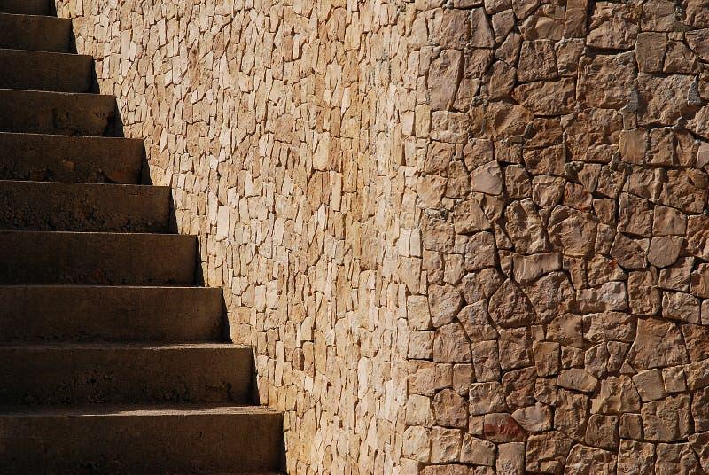Kąt układający w postaci kamieni schodków i bloków obraz stock